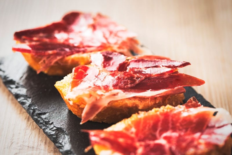 aperitivos con jamón ibérico